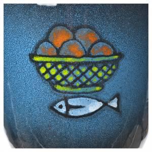 Cáliz para celebración, cerámica azul y oro s3