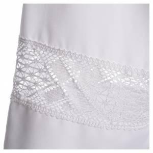 Camice bianco 65% poliestere 35% cotone tramezzo merletto s3