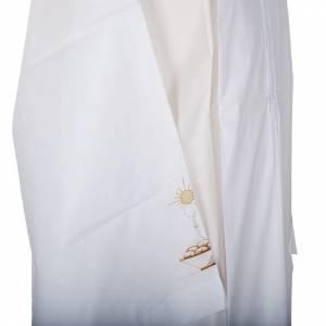 Camice bianco cotone calice pane s3
