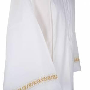 Camice bianco cotone decori torciglioni dorati s4