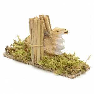 Animali presepe: Cammello presepe con paglia 10 cm
