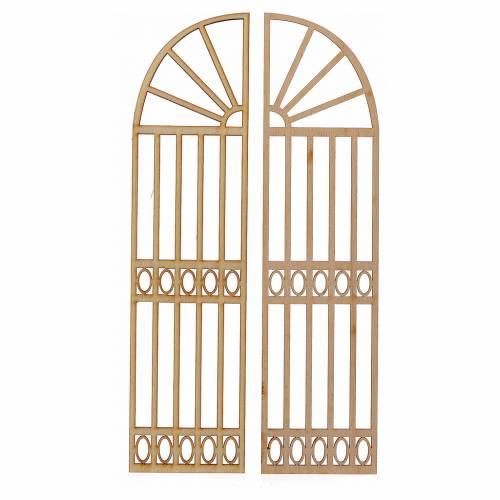 Cancello presepe legno 2 pz 22x11 s1