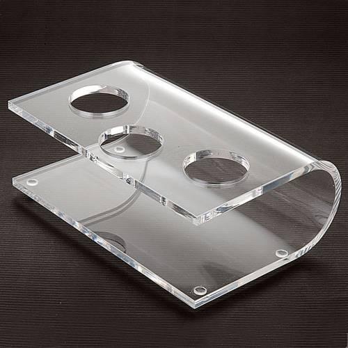 Candeliere plexiglass trasparente tre posti s2