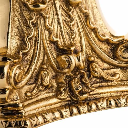 Candeliere ottone dorato fuso s3