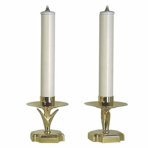 Candelieri con finte candele e cartucce s1