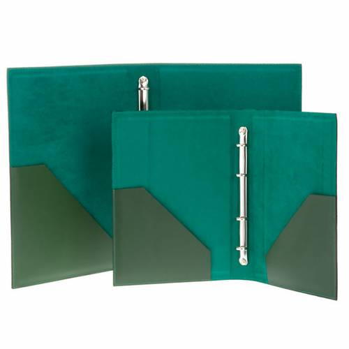 Carpeta portaritos de piel verde s5