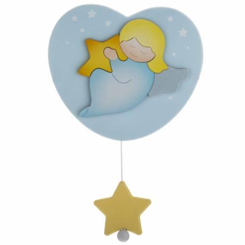 Carrillón corazón azul celeste Azur Loppiano 1