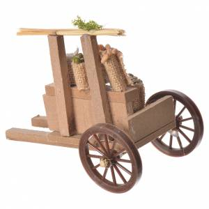 Cart with cereal in wax, nativity accessory 10x12x8cm s2