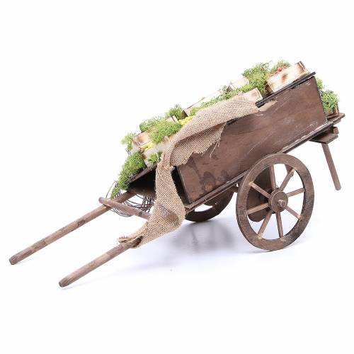 Cart with fruit for Neapolitan Nativity, 24cm s4