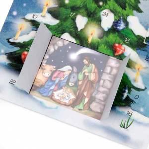 Calendriers et Livres religieux: Carte postale, Calendrier de l'Avent, arbre ITALIEN