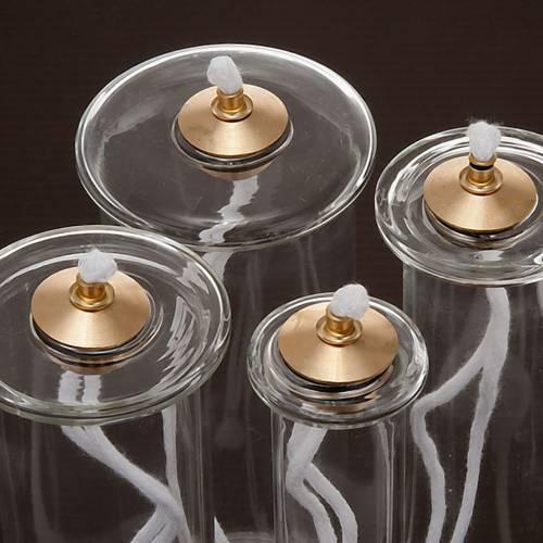 Cartouche en verre pour bougies à cire liquide s3
