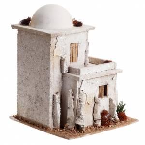 Ambientazioni, botteghe, case, pozzi: Casa araba doppia con cupola per presepe