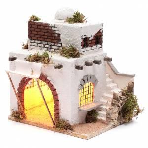 Casa araba scale e arco presepe napoletano 30x25x20 cm s2