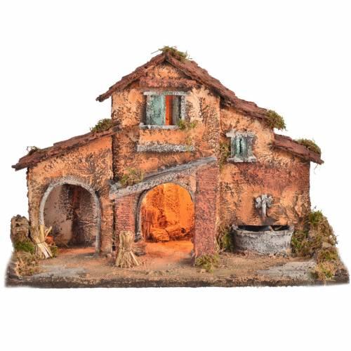 Casa grande 40x38x40 pesebre napolitano s1