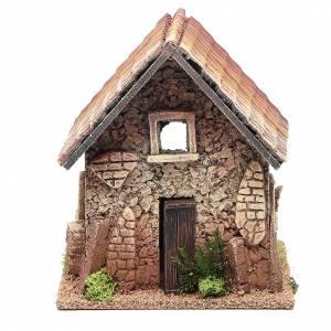 Casas, ambientaciones y tiendas: Caserío de campaña de corcho 22x16x10 cm belén
