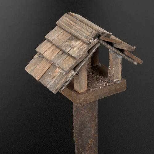 Casetta uccelli per presepe 10 cm s2