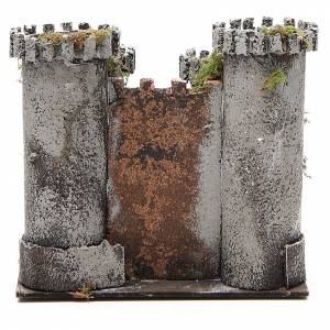 Castello per presepe 4 torri 18x20x14 cm s4