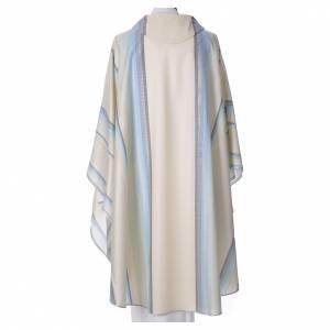 Casula azzurra 100% pura lana verg. con doppio ritorto Tasmania s2