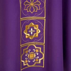 Casula liturgica con ricamo dorato s6
