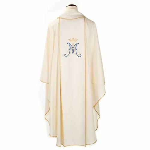 Casula mariana Madonna e simbolo 100% lana dipinta a mano s2