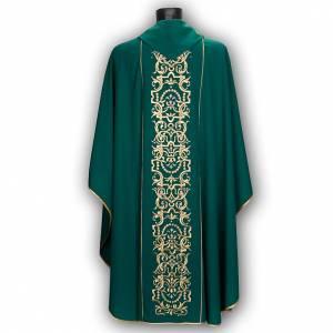 Casula liturgica e stola ricamo con IHS s5