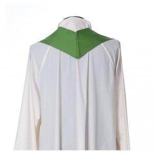 Casulla 100% pura lana con decoración en 100% seda 16 pie s7