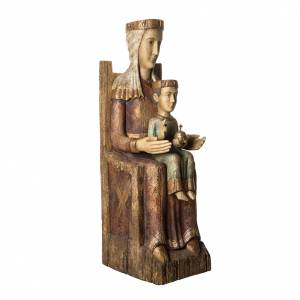 Catalan Vierge statue, 105 cm in painted wood, Bethléem s2