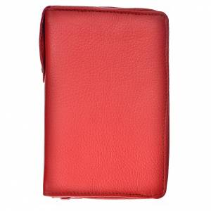 Catholic Bible cover in red leather s1