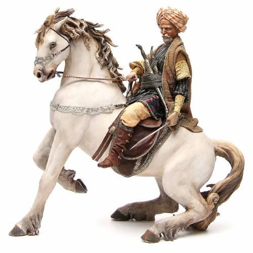 Cavallo con Re Presepe Angela Tripi 30 cm s2