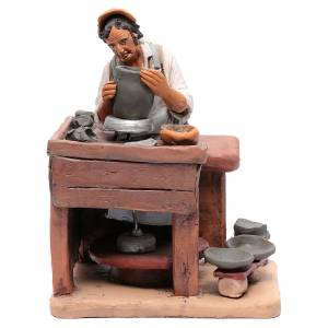 Presepe Terracotta Deruta: Ceramista decorato presepe Deruta 30 cm in terracotta
