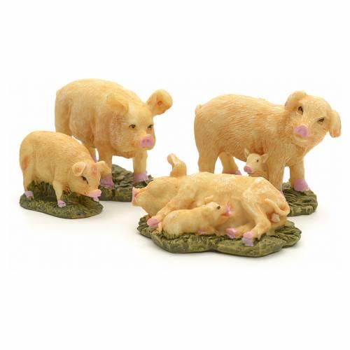 Cerdos pesebre cm 10 set 4 pz s2