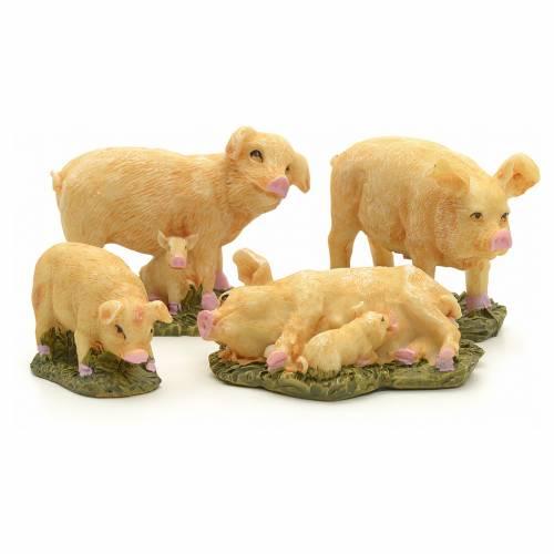 Cerdos pesebre cm 10 set 4 pz s1