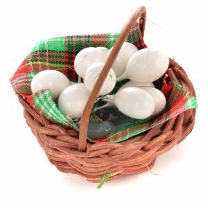 Cesto con uova per presepi fai da te s1
