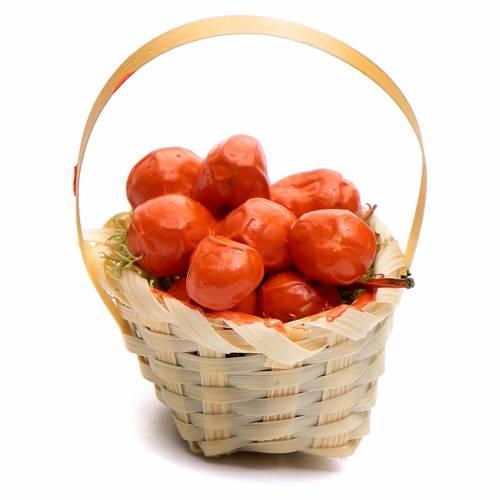 Cesto frutta assortita h 5 cm per presepe fai da te s1