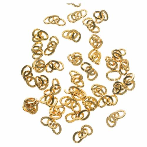 Chains for rosaries in golden metal, 3 links s1