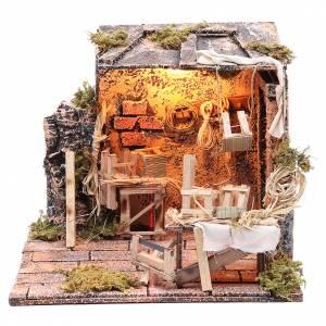 Neapolitan Nativity Scene: Chair mender Neapolitan Nativity scene, 24x26x24cm