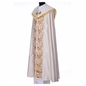 Chapes, Chasubles Romaines, Dalmatiques: Chape décors florales 100% polyester