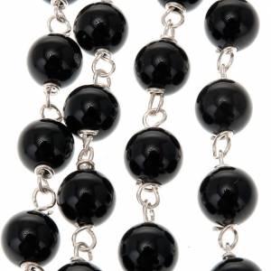 Chapelet en onyx noir rond en argent 925 s3