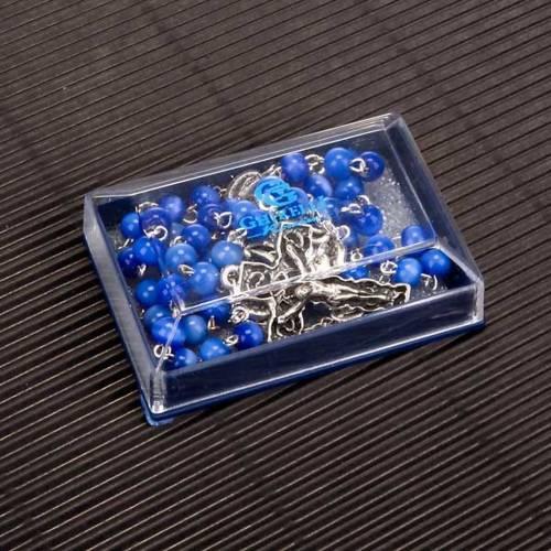 Chapelet Ghirelli en verre bleu clair s6