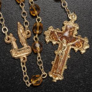 Chapelet Ghirelli Notre Dame de Lourdes orange 6mm s2