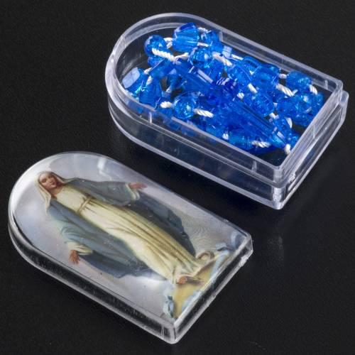 Chapelet nylon bleu avec ouverture et boite s4
