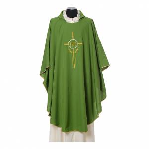Chasuble 100% polyester IHS croix épis s3