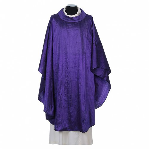 Chasuble 100% pure soie shantung s6