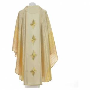 Chasuble 4 crosses in Tasmanian wool with double twisted yarn s6