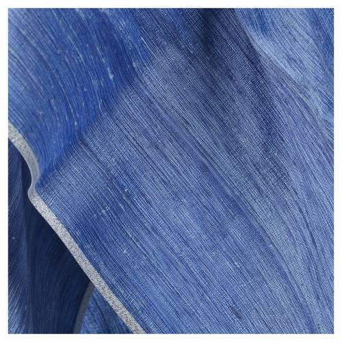 Chasuble bleu ciel 100% pure soie shantung s8