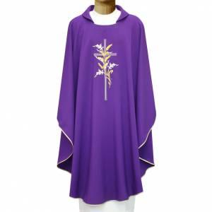 Chasuble croix et épis tressées 100% polyester s1