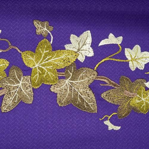 Chasuble et étole  violet avec lierre s5