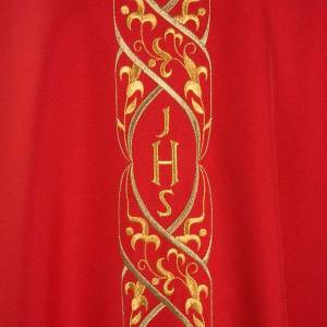 Chasuble IHS embroidery s3