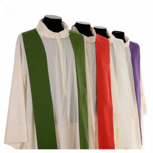 Chasuble in 80% polyester 20% wool, IHS, grapes and wheat embroi s7