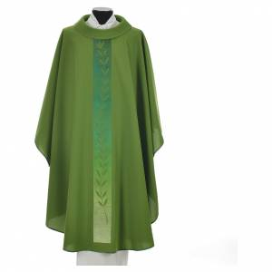 Chasuble in polyester with olive branch embroidery on orphrey s9